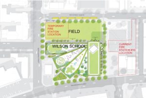 Wilson site plan (image via Arlington County)