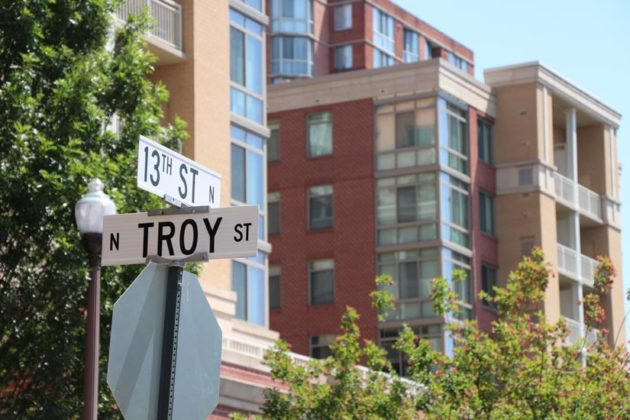 Intersection of Troy St and 13th St N., where the accident occurred