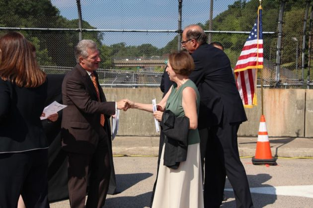 Arlington County Board Chair Libby Garvey also attended the event