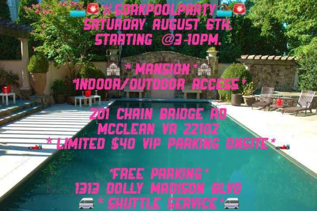Mansion Party flyer