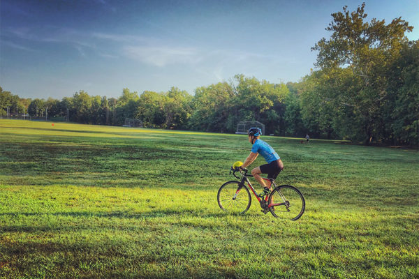 Bicycling in Bluemont Park (Flickr pool photo by Dennis Dimick)