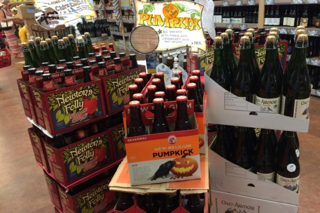 Pumpkin beer in the Clarendon Trader Joe's
