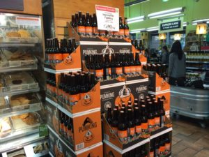 Pumpkin beer in the Clarendon Whole Foods