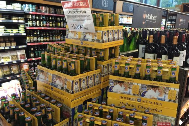 Oktoberfest beer in the Clarendon Whole Foods