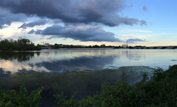 Storm clouds rolling in over the Potomac