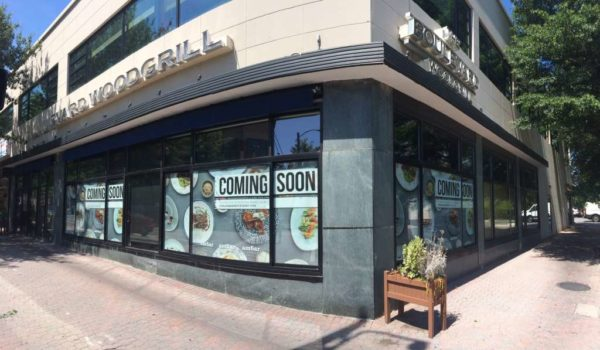 """Coming soon"" signs for Ambar restaurant in Clarendon"