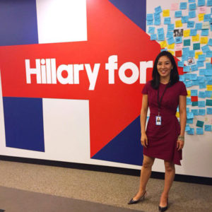 Michelle Kwan, photo via Twitter : Hillary for VA