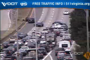 I-395 crash near Glebe Road