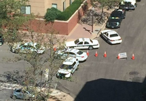Police standoff in Virginia Square (courtesy photo)