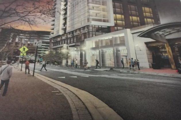 Street level rendering along 23rd Street from northwest (via Lowe Enterprises)