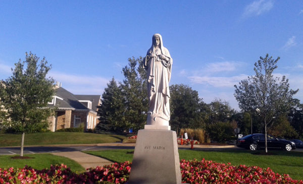 Statue at Marymount University (photo courtesy Noah Kaufman)