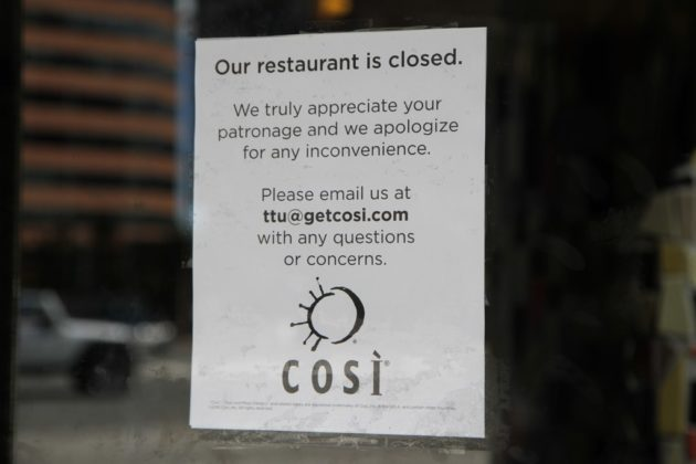 The Cosi in Courthouse has closed