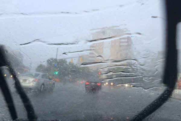 Rainy drive in Clarendon