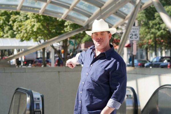 Comedian David Koechner in Clarendon (photo courtesy Collin O'Brien)