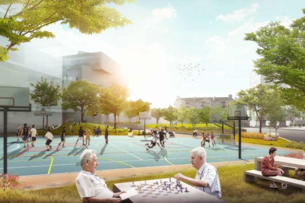 Rosslyn Highlands Park plan rendering
