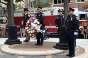 Arlington 9/11 memorial wreath-laying ceremony on Sept. 11, 2016 (screen capture via Facebook)