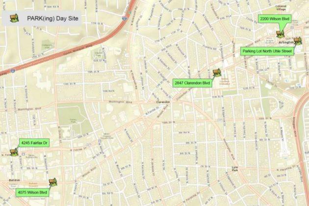 Park(ing) Day 2016 map