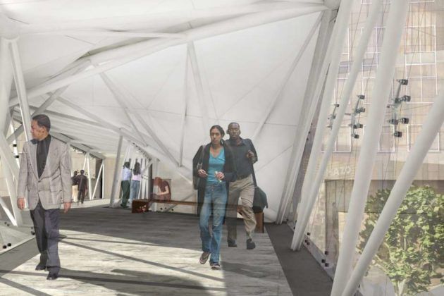 Ballston pedestrian bridge rendering
