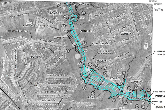 Floodplain map of Bluemont Park