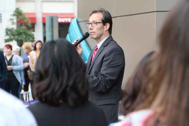 County Board member Jay Fistte at Hyatt Place Courthouse ribbon cutting ceremony