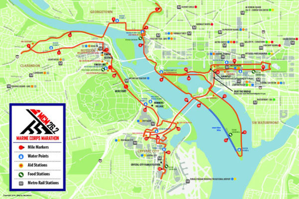 Marine Corps Marathon road closures (Image via Arlington County)