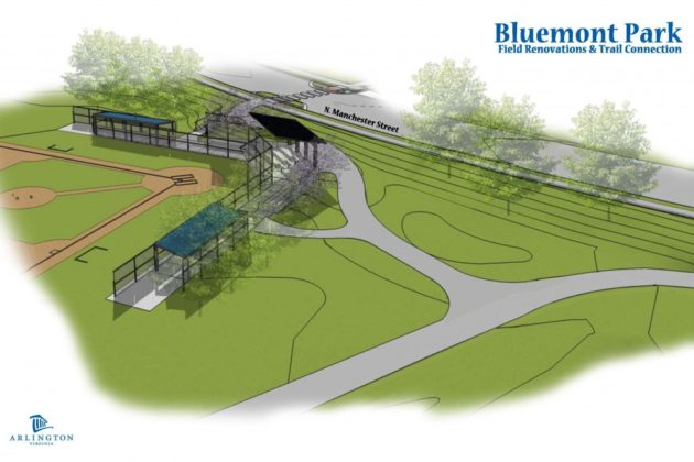 Planned baseball field at Bluemont Park
