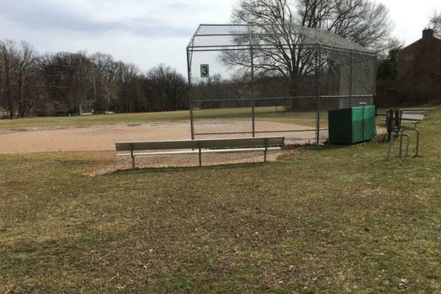 Existing field at Bluemont Park (photo via Arlington County)