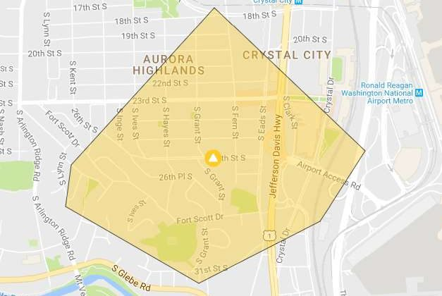 Power outage near Crystal City
