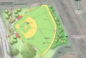 Revised Bluemont Park baseball field plan