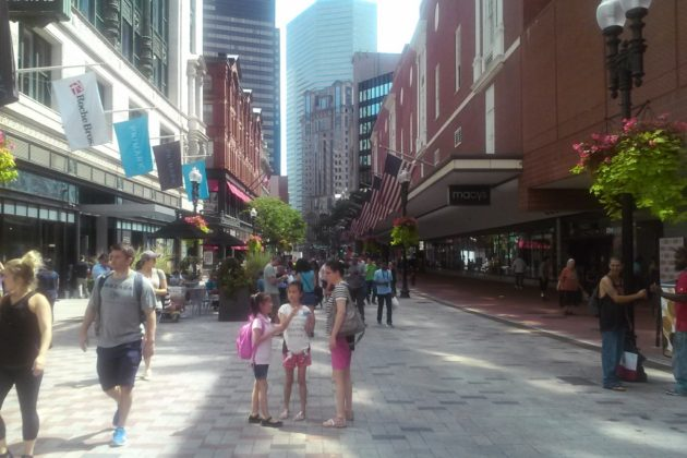 Shared street type in Boston (photo courtesy Arlington County)