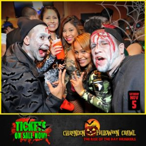Clarendon Halloween bar crawl