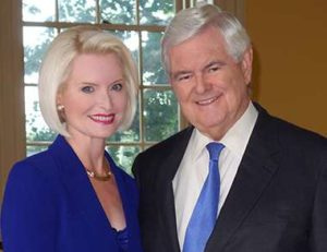 Callista and Newt Gingrich (photo via Gingrich Productions)