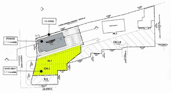 N. Quincy Street site for land swap