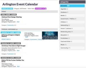 Arlington Event Calendar