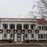 Marymount University main house during Christmastime (Flickr pool photo by Eric)