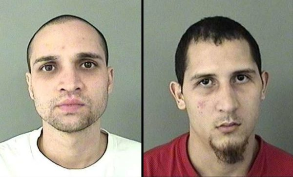 Robbery suspects Jorgito Cruz, 37, of Alexandria and Alexander Ruiz, 21, of Puerto Rico (photo courtesy ACPD)