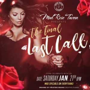 Mad Rose Tavern closing party flyer