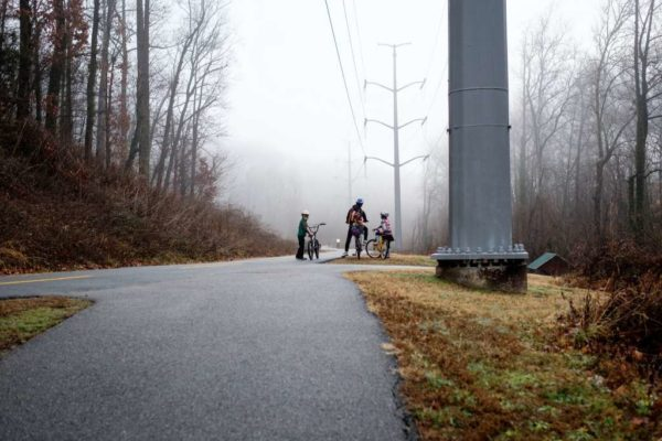 Foggy commute on the trails (Flickr pool photo by Dennis Dimick)