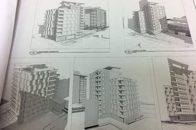 Sketches in the preliminary site plan