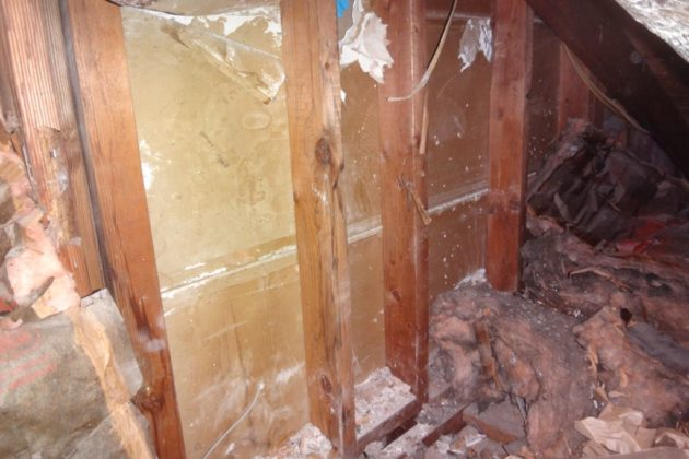 Missing and displaced attic insulation