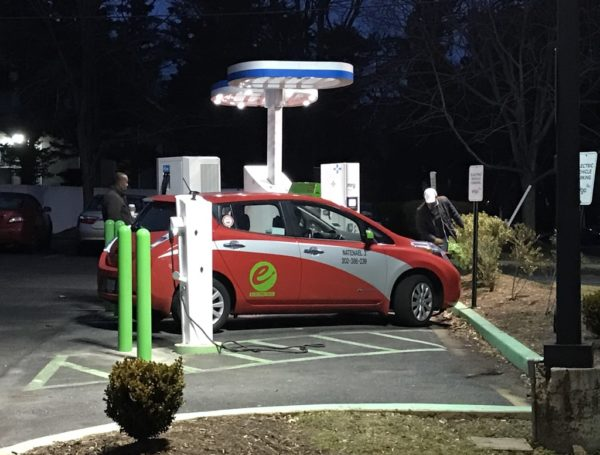 Electric vehicle charger at the Walgreens in Clarendon