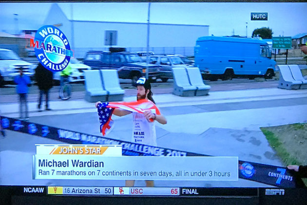 Michael Wardian featured on ESPN's SportsCenter early Monday morning
