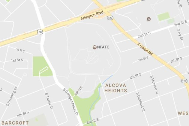 Map of Alcova Heights and the NFATC (via Google Maps)
