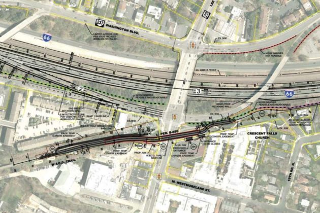 W&OD Trail bridge rendering via VDOT presentation