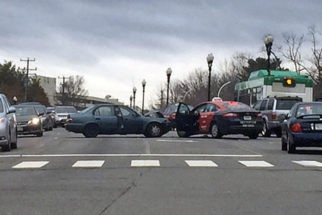 Crash on Columbia Pike at S. Dinwiddie Street (photo courtesy @CFCA_Arlington)