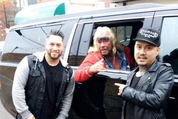 """Dog the Bounty Hunter"" poses outside Don Tito in Clarendon (courtesy photo)"
