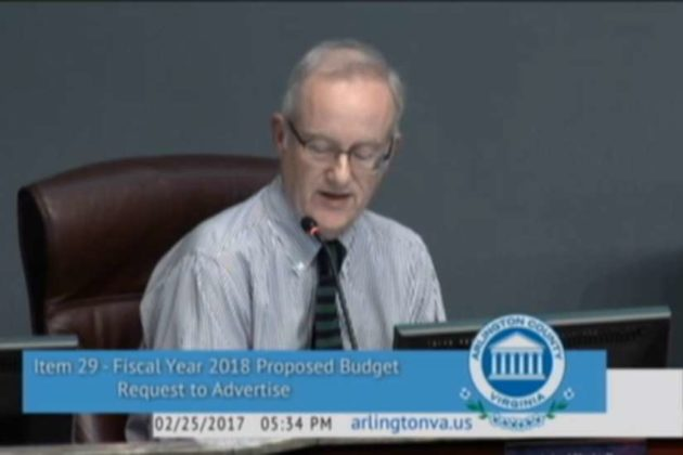 John Vihstadt (screenshot via Arlington County Board meeting)