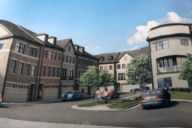 Rendering from the proposed site plan