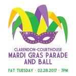 Mardi Gras Clarendon flyer