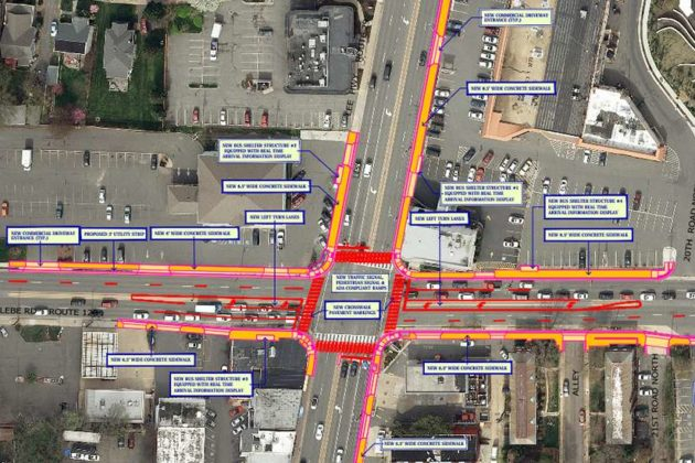 Lee Highway and Glebe Road intersection design (via Arlington County)